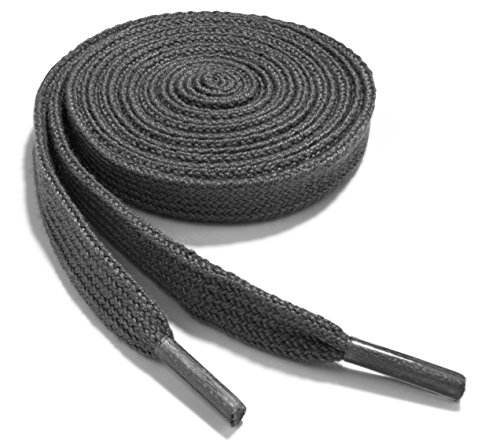 OrthoStep Narrow Flat Athletic 36 inch Dark Grey Shoelaces - High Durability Shoe and Sports Shoelaces 2 Pair Pack