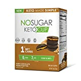 No Sugar Keto Cups - Dark Chocolate Peanut Butter 30 pack, Low Carb Keto Snacks, Gluten Free by No Sugar Company