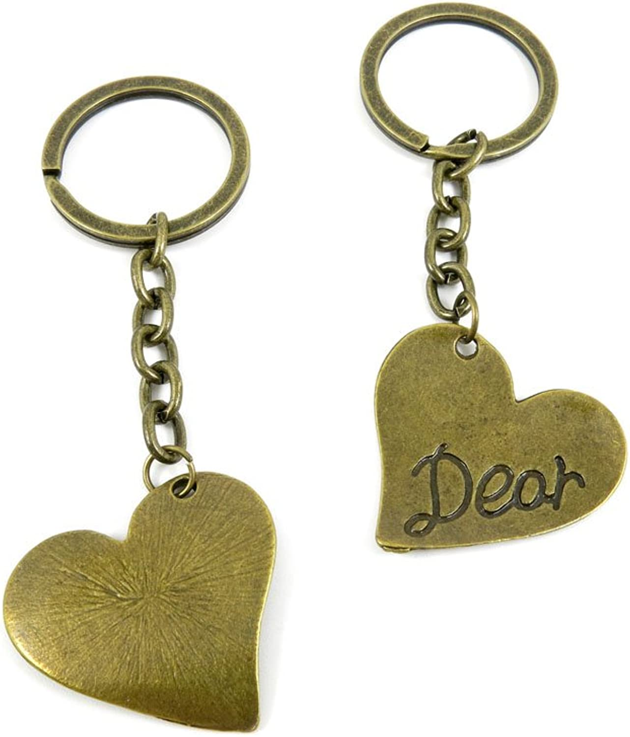 80 PCS Keyring Car Door Key Ring Tag Chain Keychain Wholesale Suppliers Charms Handmade D3SF8 Dear Heart Tag
