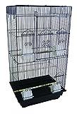 YML A6824 3/8' Bar Spacing Tall Flat Top Small Bird Cage, Black, 18' x 14'