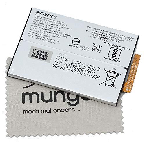 Akku für Sony Original SNYSK84 1309-2682 für Sony XA2 mit mungoo Displayputztuch