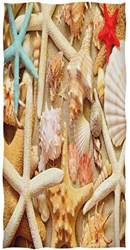 Summer Starfish Seashell Sand Toalla de impresión Personalizada 27,5' x15,7 Toalla de Cara Suave Absorbente Toalla de baño de Cocina para el hogar Toalla para Invitados