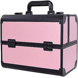 صندوق تجميل كبير جدا لتخزين مساحة كبيرة، صندوق أدوات تجميل تجميل تجميل الأظافر، حقيبة تخزين أكسسوارات التجميل، لخبراء التج...