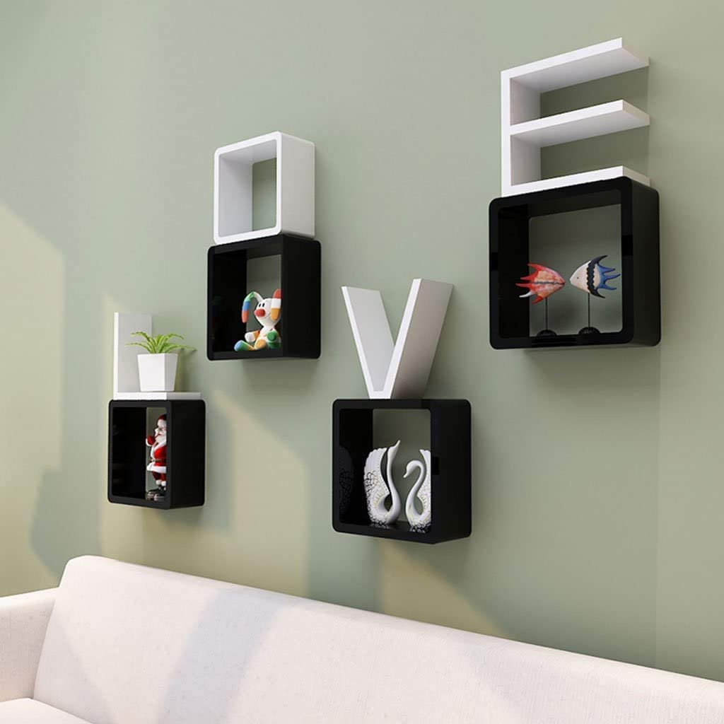 Worthy Shoppee Creative Romantic Love Wall Bedr Shelf Design Sales for sale price for