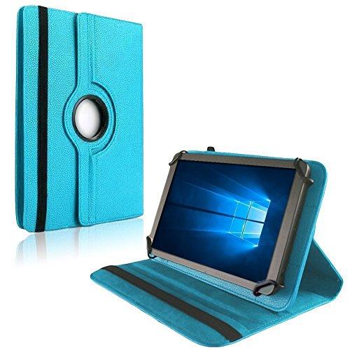 NAUC Tablet Hülle für Blaupunkt Atlantis Discovery 1001A Tasche Schutzhülle Hülle Cover, Farben:Türkis