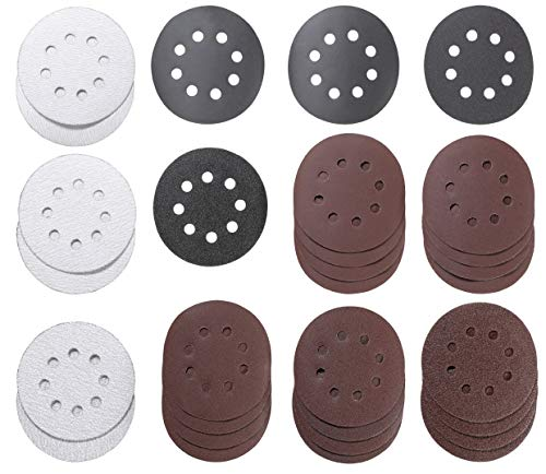 kwb 491985 491985-Set di Dischi abrasivi per levigatrice e smerigliatrice, 30 Pezzi, Ø 125 mm, forati, Multicolore