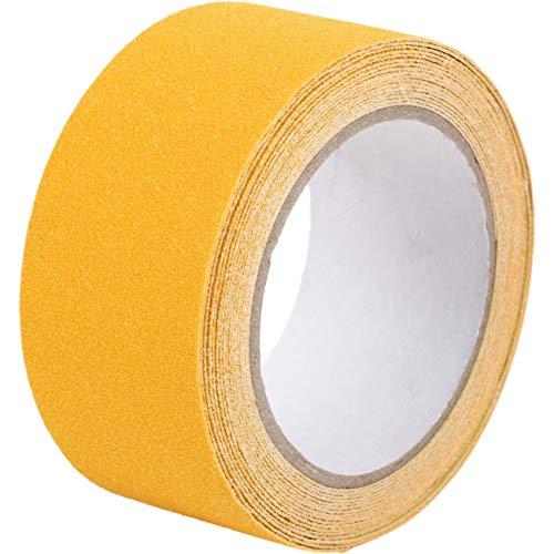 factus 滑り止めテープ 鉱物粒子 貼るだけ簡単 転倒防止 屋外 階段 耐水性 50mm×5m 全8色 (4.黄色)