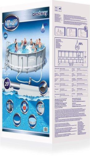 Bestway Frame Pool Power Steel Set 488×122 cm - 6