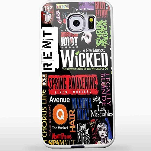 Deal Market LLC Armour Slim Case -Broadway Musical Collage for iPhone and Samsung Galaxy Case (Samsung Galaxy S9 Plus Includes 1 Screen Protector White) CCCM1124ships Next Day from USA