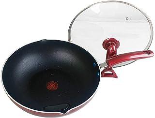 OLDJTK Wok Antiadherente sartén Inferior Plana sin Olla de Humo de Aceite, con Cocina de inducción Estufa de Gas Universal Antiadherente Wok en casa (Size : 28cm)