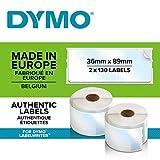 Dymo S0722410 LabelWriter Etichette per indirizzi autoadesive, 36 x 89 mm, 1rotolo da 260 ...