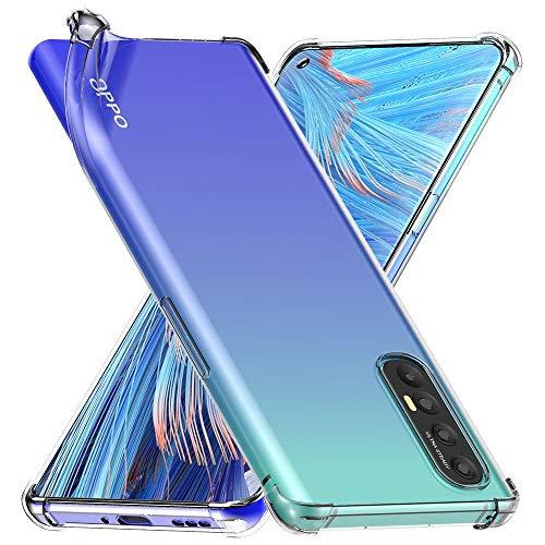 ebestStar - kompatibel mit Oppo Find X2 Neo Hülle Flex Silikongel Handyhülle, Klar TPU Schutzhülle, verstärkten Rändern & Ecken, Transparent [Phone: 159.4 x 72.4 x 7.7 mm, 6.5'']