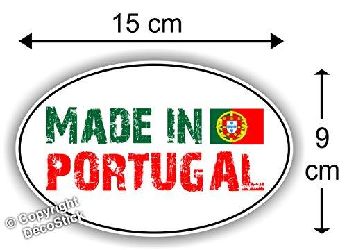 Sticker Autocollant Made in Portugal - Adesivo Autocolantes Bandeira