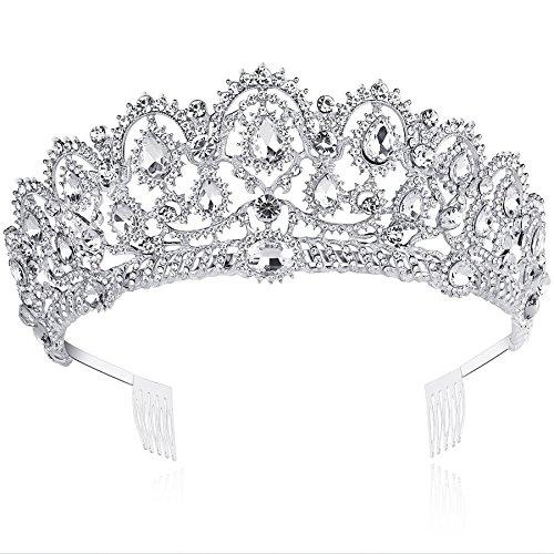 Tiara de cristal ArtiDeco para novia, para cumpleaños, boda, fiesta, novia, baile...
