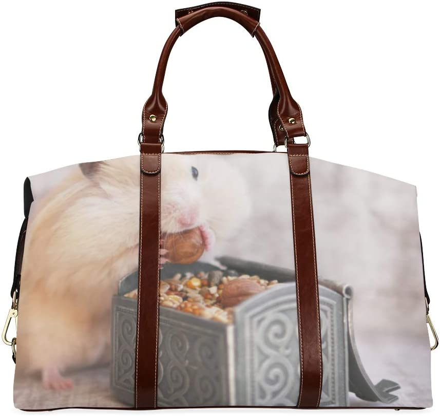 Popular shop is the lowest price challenge Duffel Bag Waterproof Cute Little Eating NEW Oversiz Classic Hamster