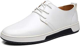 Zapatos de Negocios Casuales para Hombre con Cordones Oxford Walking Zapatos Planos de la Ciudad Zapatos de conducción cóm...