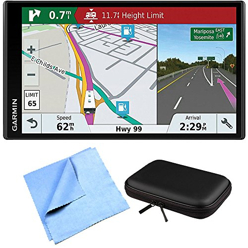 Garmin RV 770 NA LMT-S RV GPS Navigator for Camping Enthusiast w/Hardshell Case Bundle Includes PocketPro XL Hardshell Case and Cleaning Cloth