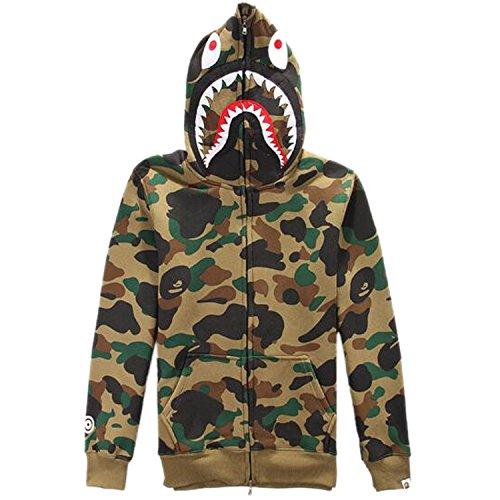 ETASSO Military Combat Army Camo Hoodie para hombre XL Café camuflaje