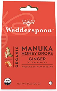 Wedderspoon - Manuka Honey Drops Ginger With Echinacea 4 Oz. 156946