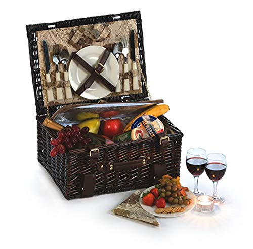 Picnic Plus Copley 2 Person Picnic Basket with Insulated Cooler