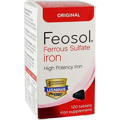 Feosol Original Ferrous Sulfate Iron Supplement , 120 CT (Pack of 3)
