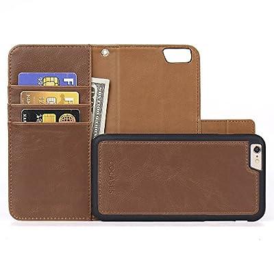 COCASES Wallet Case Compatible iPhone 6 Plus, i...