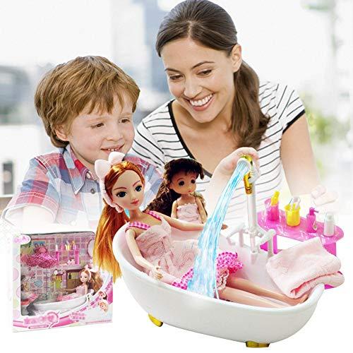 Hangarone Muñecas Bebé Muebles De Baño Y Juego De Muñecas Baño Juego De Muñecas para Niñas Niños Greater