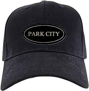 Park City, Utah Black Cap Baseball Hat, Novelty Black Cap