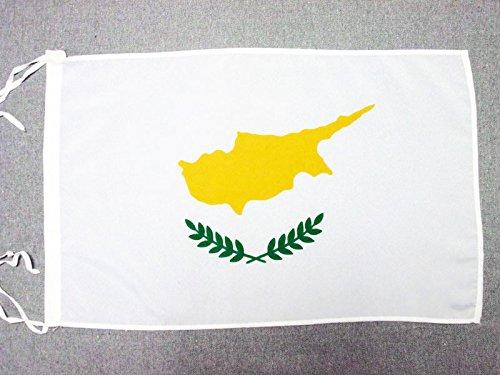 AZ FLAG Flagge ZYPERN 45x30cm mit Kordel - ZYPRIOTISCHE Fahne 30 x 45 cm - flaggen Top Qualität