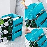 rangement bouteille pour réfrigérateur (lot de 2) – Porte bouteilles de vin et d'autres boissons – casier à bouteille avec de la place pour ranger 2 bouteilles de vin ou d'eau (A)