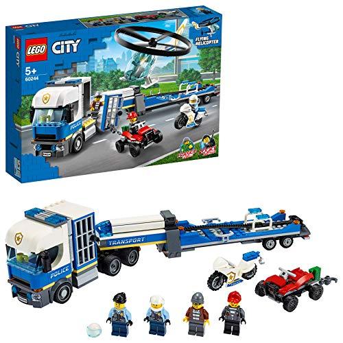 LEGO City Police – Policía: Camión de Transporte del Helicóptero, Juguete de Construcción de Aventuras, con un…