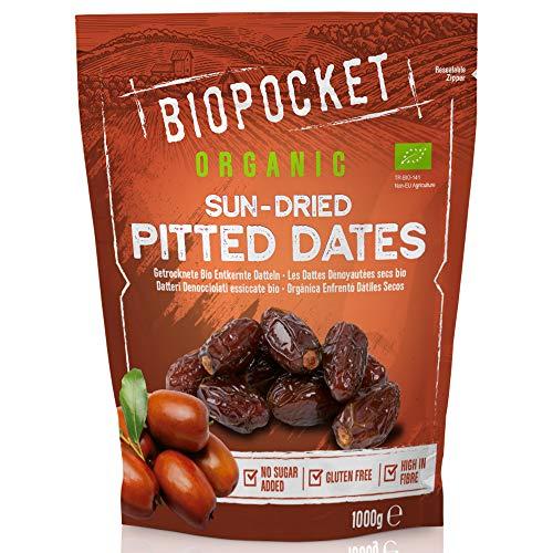 Biopocket - Dattes dénoyautées bio séchées, 1000g