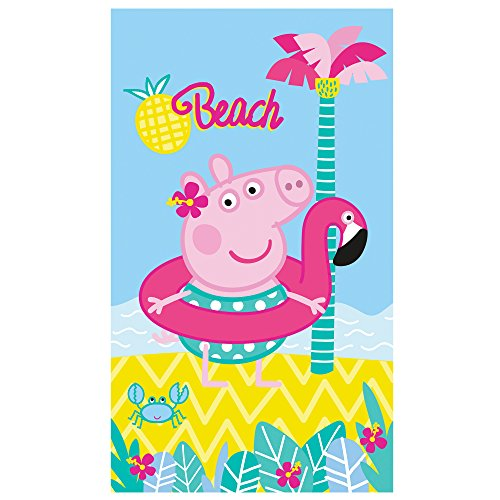 Peppa Pig Summer–Toalla de Playa, algodón, Azul, 120x 70cm 🔥