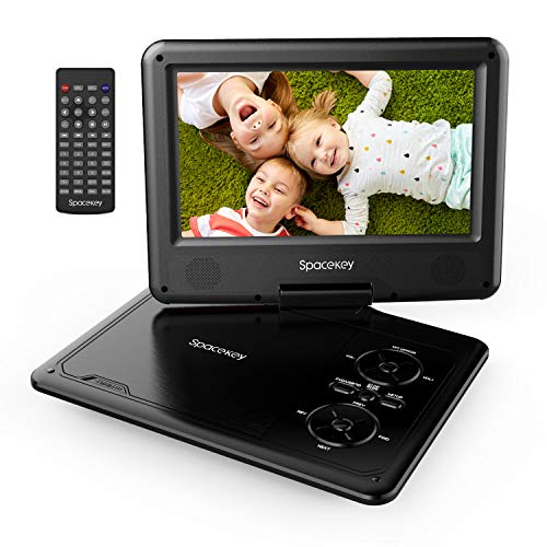 Read About Portable DVD Player 11.5 with 5 Hours Rechargeable Battery by SPACEKEY, 9 Swivel Screen...