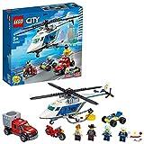 LEGO City, Jouet d'arrestation en hélicoptère avec un quad tout-terrain, une moto et un camion, Set de construction pour enfants de 5 ans et plus, 212 pièces, 60243