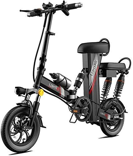 Bicicleta eléctrica de nieve, 350W 12 pulgadas de montaña de la bicicleta eléctrica for los adultos, la batería de acero al carbono de alta Scooter eléctrico engranaje E-bici con extraíble 48V30A liti