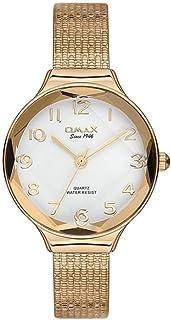 ساعة يد بعقارب بسوار مصنوع من سبيكة معدنية مقاومة للماء