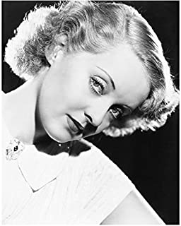 Bette Davis 8x10 Inch Photo All About Eve What Ever Happened to Baby Jane Blonde Head Shot Tilting Head Left kn