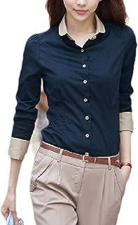 Women's Plus size Slim Fit Office Buttoned Long Sleeve Western Shirt