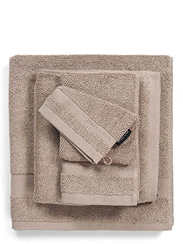 Marc O Polo Melange - Asciugamani da bagno, spugna di cotone tessuto, colore: Beige Chiy, 50 x 100 cm