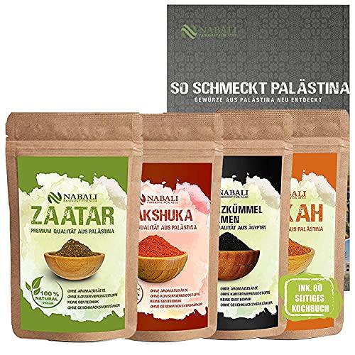 NABALI FAIRKOST Zaatar & Dukkah & Comino negro & Dukkah especias Palestinas ligeramente picantes I 100% Natural Aromático Tradicion Oriental I Sin Aditivos I Vegano (100 g)