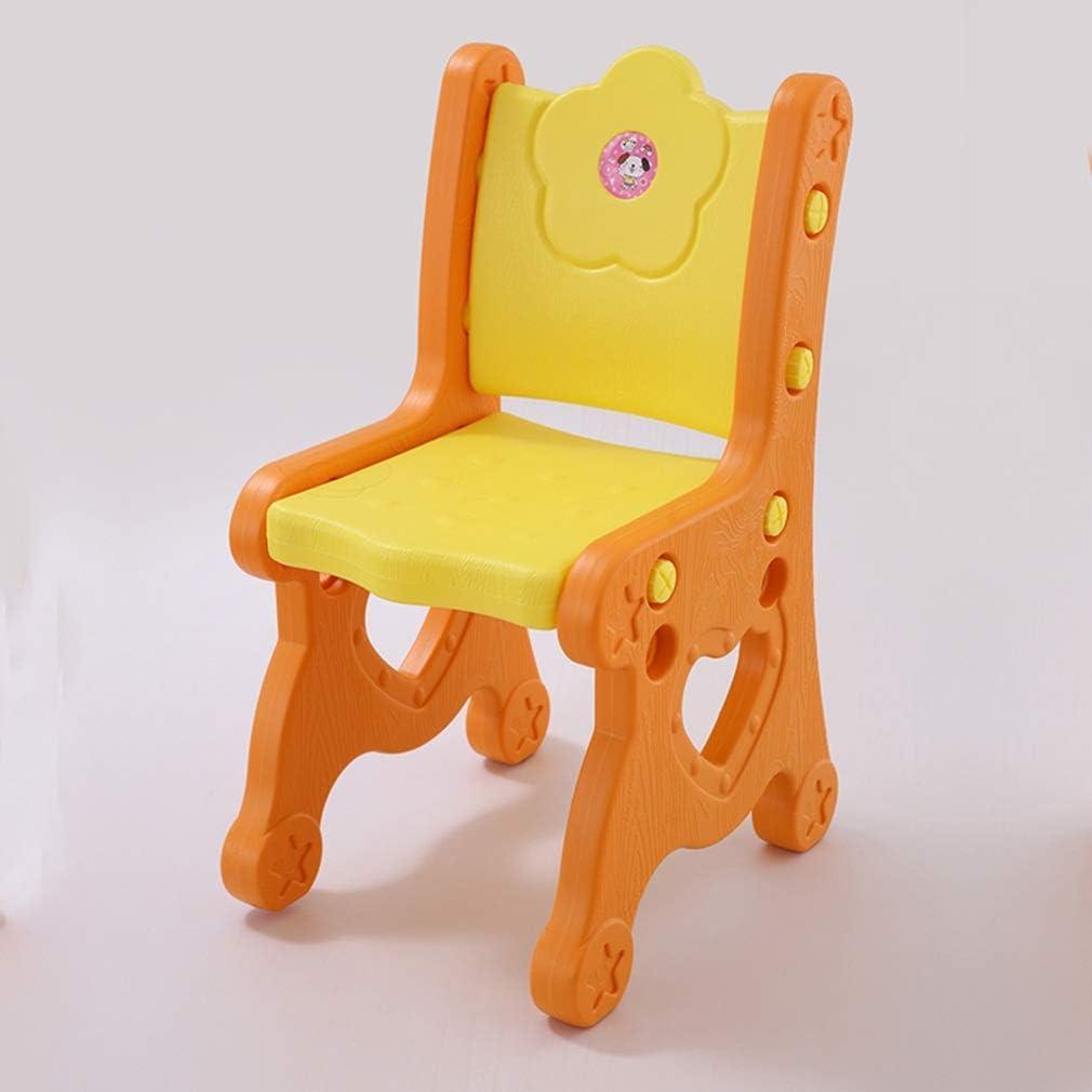 YNGJUEN Chaise Étude De Dossier Méthode D'installation Pratique For Enfants Cadeau Enfants Banc En Plastique (Color : A) A