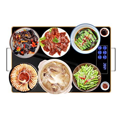Warmhalteplatten, Tellerwärmer Warmhalteplatte Wärmeplatte Elektrisch für Speisen Oder Teller, Praktische für Zuhause, um das Essen Auf Dem Tisch Warmzuhalten, 60×40cm