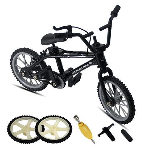 Sue-Supply Finger Bike Mini Finger Mountain Bikes con 2 Ruedas De Repuesto Y 3 Herramientas Toy BMX Bikes Mini Extreme Sports Party Favors