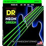 DR ベース弦 NEON ニッケルメッキ グリーン カラー コーテッド .045-.105 NGB-45