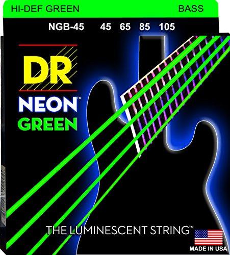 DR String NGB-45 Neon Green Juego Cuerdas Bajo
