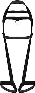 Freebily Body Chest Harness Men Elastic Belt Chest Harness Metal O-Ring Straps Bandage Garter Thong Open Horse Suspendory ...