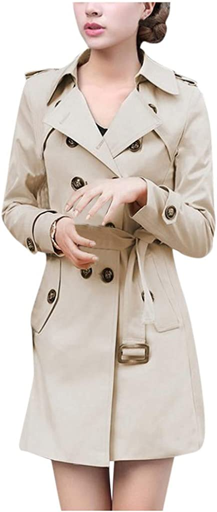Inventory cleanup selling sale Women Slim Windbreaker Double Breasted Coat Challenge the lowest price of Japan ☆ Jacket O Trench Long