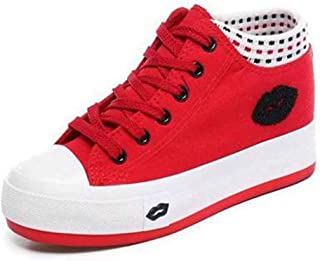BeiaMina Femmes Mode Court Chaussures Lacets Chaussures Low Top