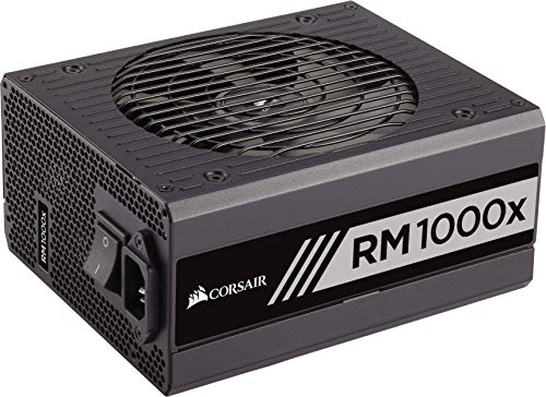 Corsair CP-9020094-UK RM1000x 1000 W 80 Plus Gold Certified Modular 135 mm Thermally Controlled Fan...